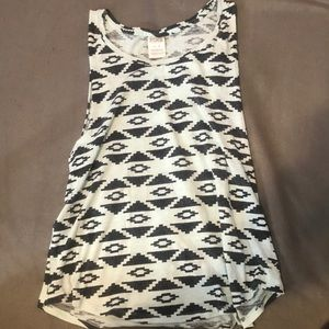 Victoria's Secret light blue and black muscle tee